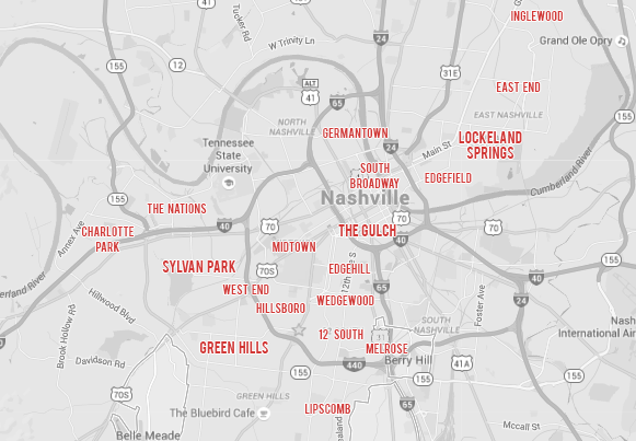 nashville real estate neighborhood map