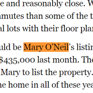 TN Ledger Recognizes Agent Mary O'Neil