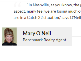 Benchmark Website Recognizes Agent Mary O'Neil!