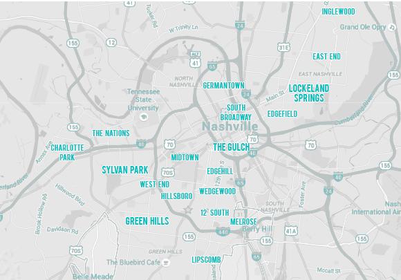 nashville neighborhoods map